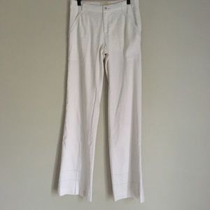 ANTHROPOLOGIE elevensies white wide leg pants
